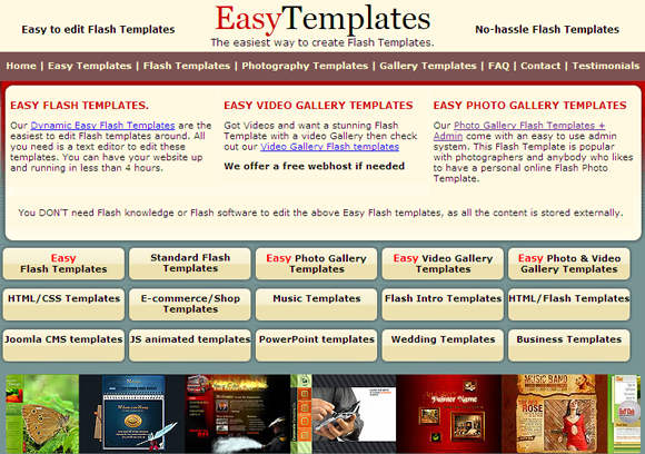 Build flash websites in minutes with easytemplates Build easy website