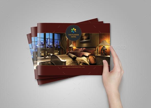 classy hotel brochure template