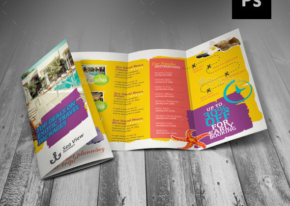 exotic travel brochure template