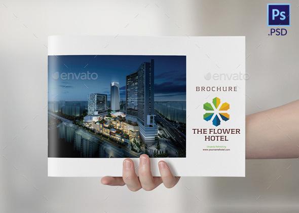 accomodation brochure catalog template