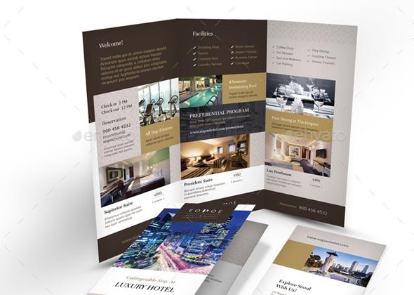 hotel printed bundle bifolded trifolded brochures
