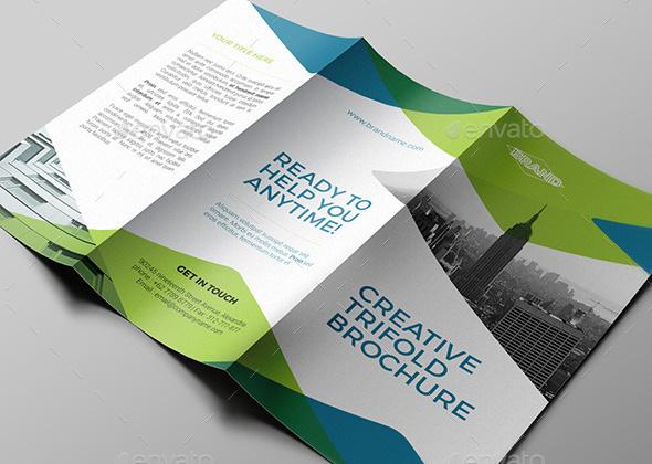 trifolded creative multipurpose brochure template