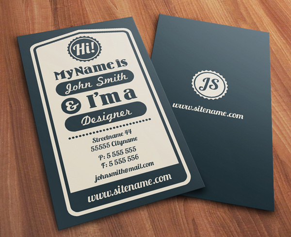 Creative examples of typographic business cards for Examples of good business cards
