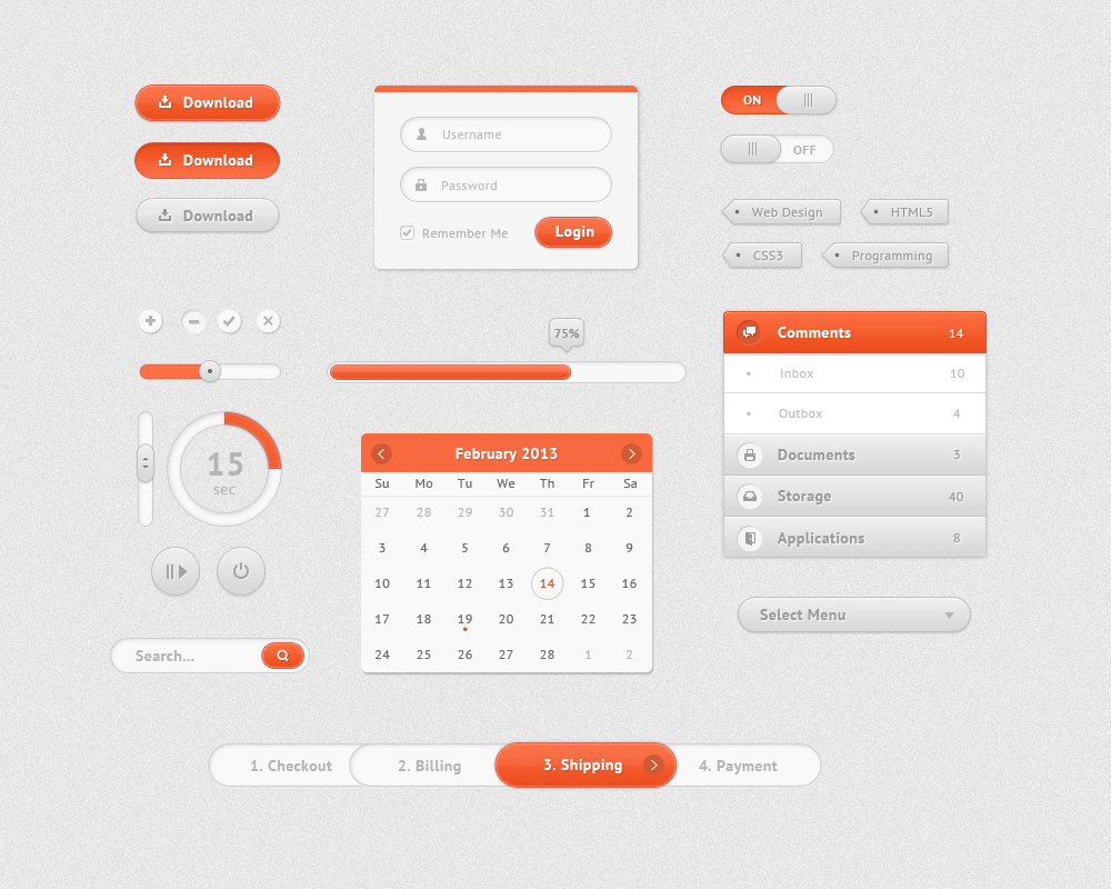 Free PSD UI Kit for Your Web Applications