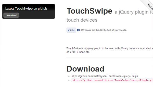 touch swipe
