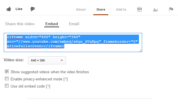 Create Embed Code out of YouTube and Vimeo URLs