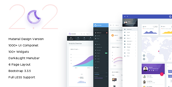 remark-material-design-bootstrap-template