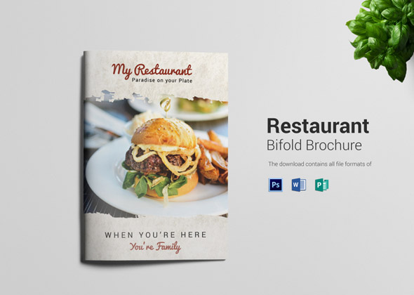 restaurant hotel bifold template