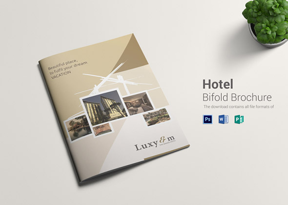 hotel template brochure