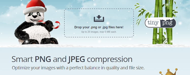 tinypng smart png and jpeg compression to optimize images