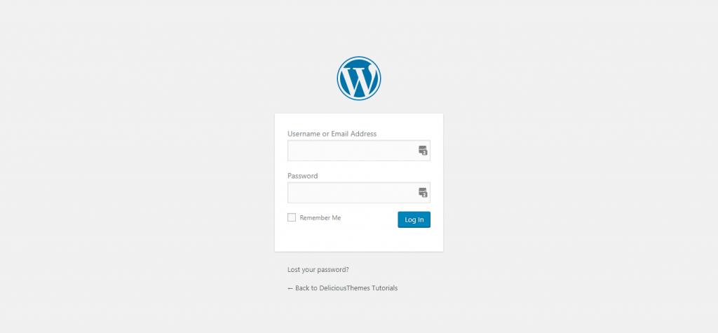 wordpress default login form
