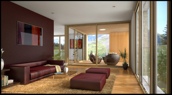 50 amazing interior designs created in 3d max and photoshop for Amazing mansions inside