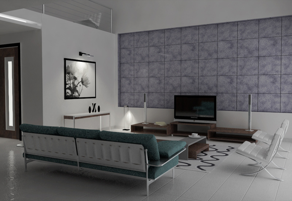 50 amazing interior designs created in 3d max and photoshop for Living room 3ds max