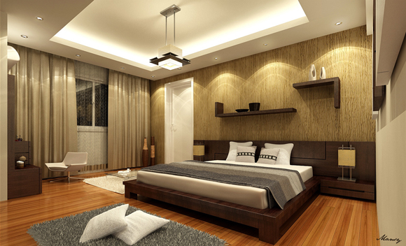 50 amazing interior designs created in 3d max and photoshop for Bedroom interior design pictures