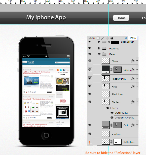 How to create an iphone app layout in photoshop for Designing an iphone app