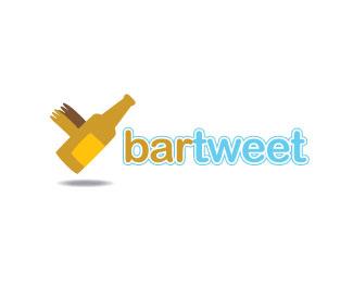 bar-tweet-twitter-logo-design