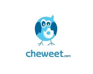 cheweet-com-twitter-logo-design
