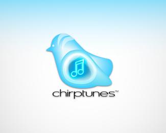 chirp-tunes-twitter-logo-design