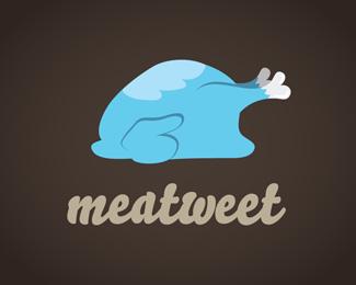meatweet-twitter-logo-design