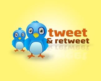 tweet-and-retweet-twitter-logo-design