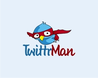 twittr-man-twitter-logo