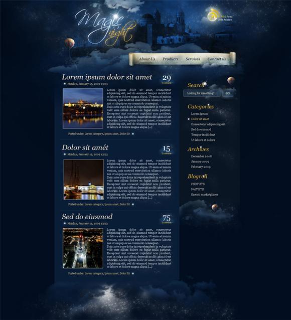 magic-night-theme-website-from-scratch